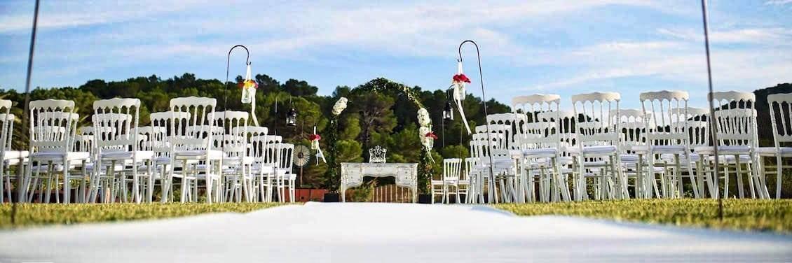 Alquiler de sillas para ceremonia Ibiza