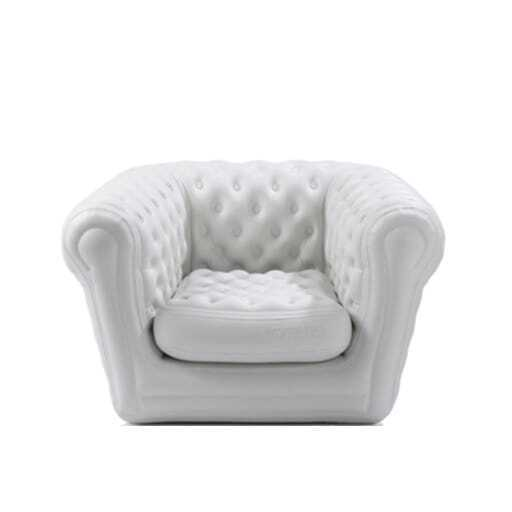 Armchair chill-out inflatable white 105x120 cm.