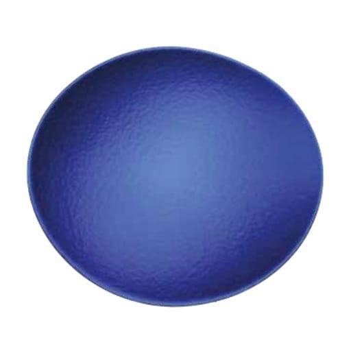 Bajo plato azul 31x35 cm.
