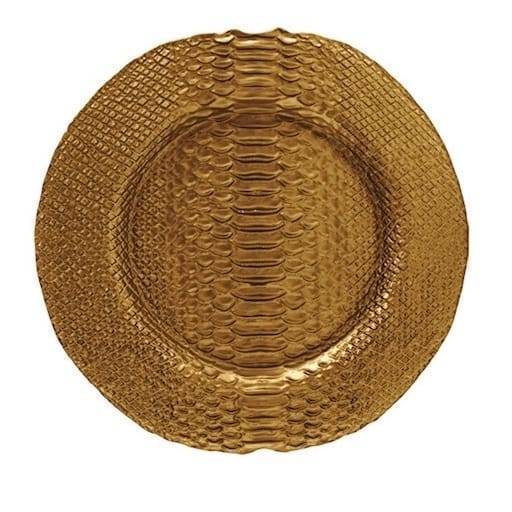 Bajo plato dorado 32 cm.