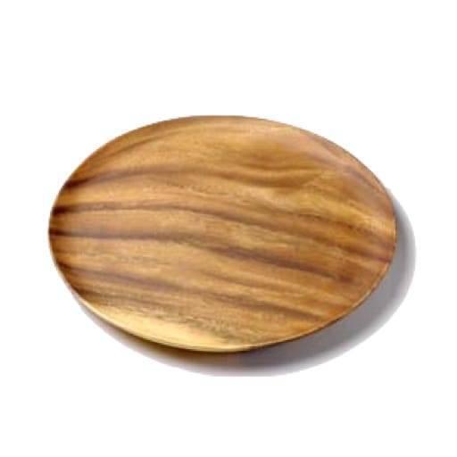 Bajo plato madera 33 cm.