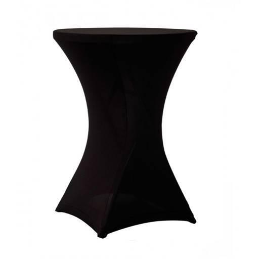 Bistro Tisch Schwarz *Tischdecke elastisch inkl. 80 cm.