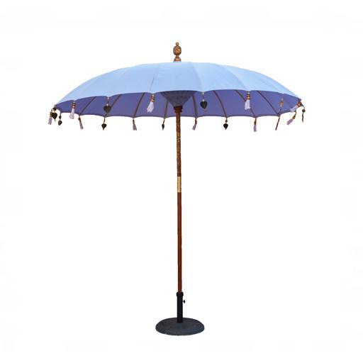 Umbrella for the wooden table