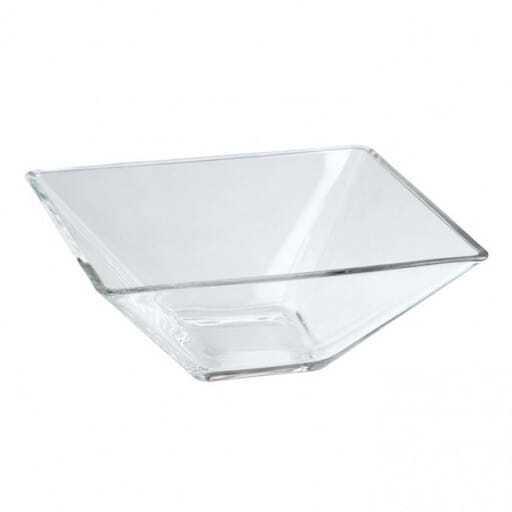 Bol cuadrado de cristal 14x14 cm.