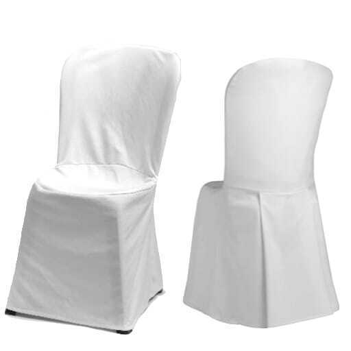 Chair with white cover