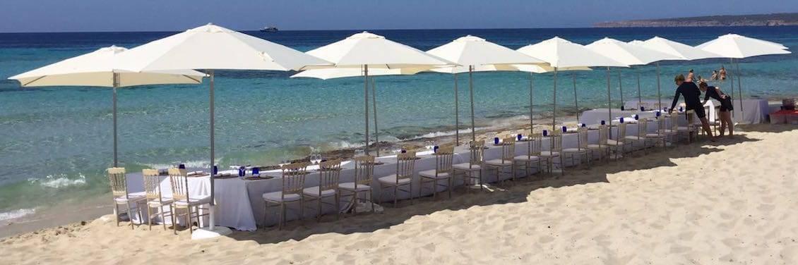 Evento catering en playa de Formentera para 40 personas
