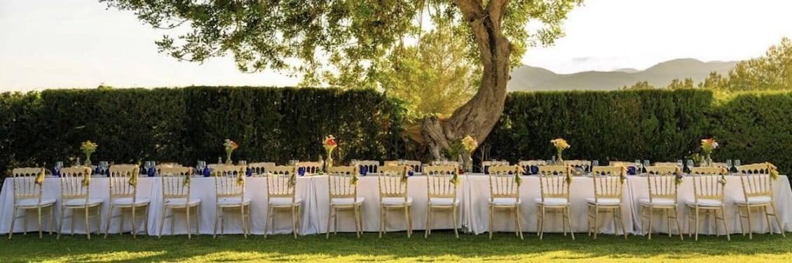 Evento celebrado para 30 personas en Sant Mateo, Ibiza