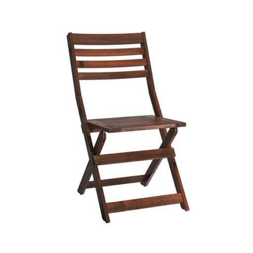 Folding wooden chair *cushion incl.