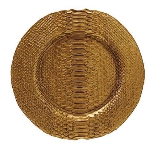 Golden plate 32 cm.