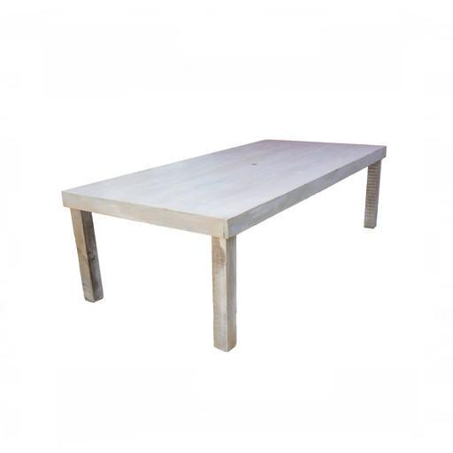 Mesa de madera 120x240 cm.
