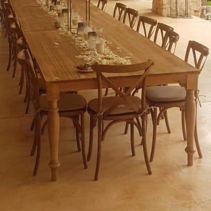 Mesa madera rectangular OSCURA 120x250 cm.