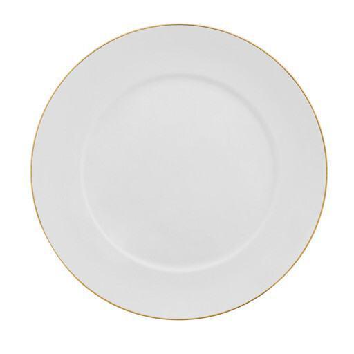 Plato blanco/dorado 32 cm.
