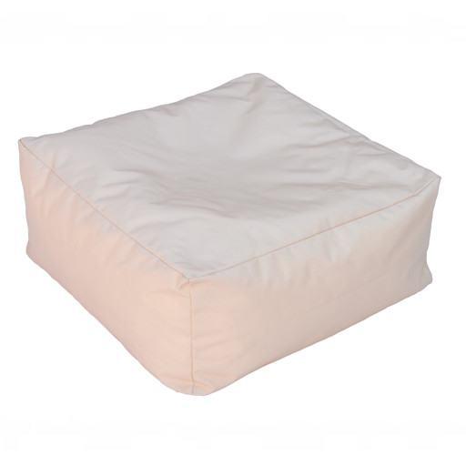 beiges quadratisches Kissen für Boden 50x50 cm.