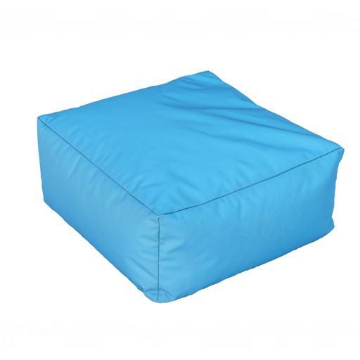 Quadratisches blaues Kissen für Boden 50x50 cm.