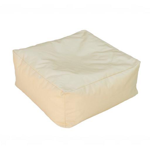 Quadratisches gelbes Kissen für Boden 50x50 cm.
