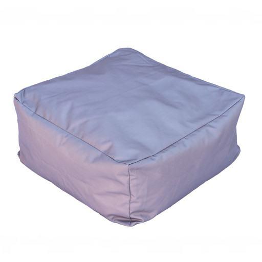 Graues quadratisches Kissen für Boden 50x50 cm.