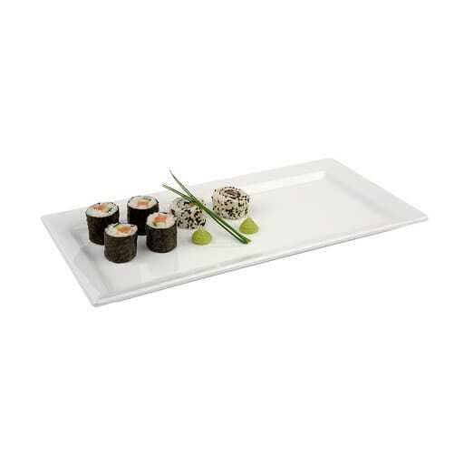 Servier Platte Weiß 18x50 cm.