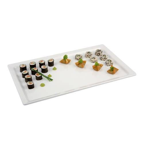 Servier Platte Weiß 30x50 cm.