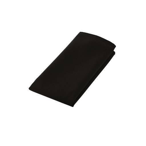 Servilleta de tela negro