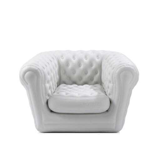 Sessel Lounge aufblasbar weiß 105x120 cm.