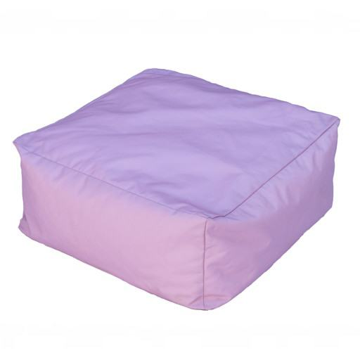 Square pink cushion for floor 50x50 cm.