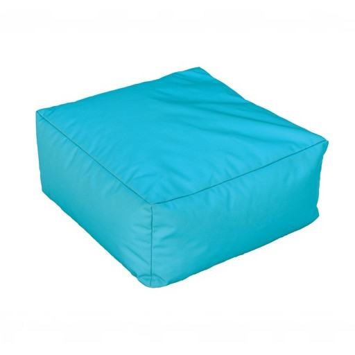 Square turquoise green cushion for floor 50x50 cm.