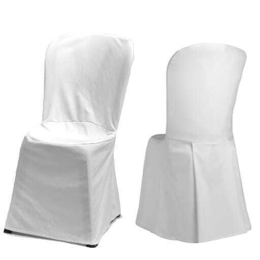 Stuhl mit weißer Husse